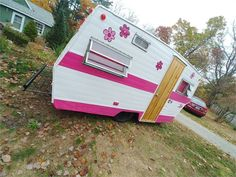 1963 Lark * Lucille * - Dover, NH Camper Trailer For Sale, Vintage Campers Trailers, Camper Trailers, Retro Fridge, Small Suv, Camper Makeover, Custom Curtains, New Tyres, Recreational Vehicles