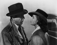Humphrey Bogart (1899 - 1957) and Ingrid Bergman (1915 - 1982) star in the Warner Brothers film 'Casablanca,' 1942.