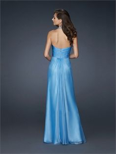 Halter V-neckline with Beadings A-line Low Back Floor Length Chiffon Homecoming Dress HD1481  http://www.homecomingstore.com