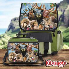 Boys Kidaroo Dog Selfies Backpack /& Lunchbox Set for Girls Kids