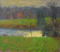 """""""Water and Light, Luck's farm, 3/9/2016"""" by Duane Keiser"""