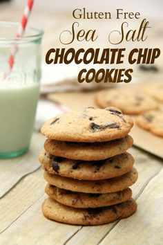 Gluten Free Sea Salt Chocolate Chip Cookies