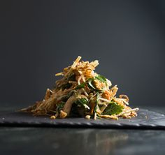 When making this green papaya salad by Leah Cohen of New York's Pig and Khao, be sure not to overdress the salad.