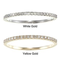 10k Gold 1/8ct TDW Diamond Thin Wedding Band (G-H, I1-I2) | Overstock.com Shopping - Big Discounts on Women's Wedding Bands