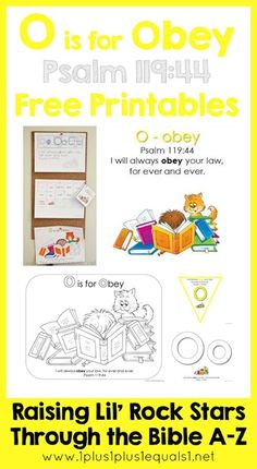 Bible Verse Printables Letter O is for Obey  ~ Raising Lil Rock Stars Through the Bible A to Z
