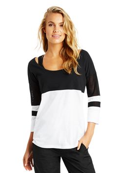 Baseball Cropped Slv Top | Leisure & Travel | Activities | Styles | Shop | Categories | Lorna Jane US Site