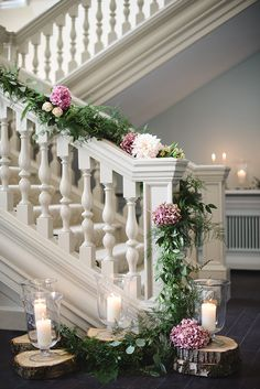 Staircase garland - Ask the experts: Styling a Country House Wedding Venue - Morden Hall | CHWV