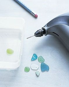 how to drill holes in sea glass, going to do this with my sea glass!!