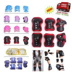 6 PCS Protection Set Kids Roller blade Skateboard Wrist Elbow Adjustable Straps  #FantasycartKids