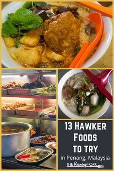 In Penang, there is no shortage of must-try famous hawker food. The competition for your custom is fierce which produces high quality and delicious dishes. Chinese Street Food, Asian Street Food, Malaysian Cuisine, Malaysian Food, Tasty Dishes, Food Dishes, World Street Food, Asian Market, Food Stall