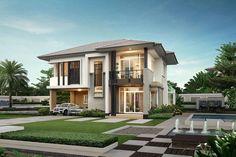 บ้านเดี่ยว เกษตร-นวมินทร์ Casa Legend Kaset Nawamin| By Q House | โทร 1388 Digital Lock, Modern Exterior, Modern House Design, Telephone, Houses, Concept, Mansions, Architecture, House Styles