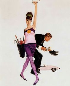 Audrey Hepburn and Peter O'Toole, depicted on Robert McGinnis's poster forHow to Steal a Million,1966.  Photo: Courtesy of Robert McGinnis.