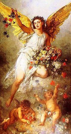 Angels, Ludwig Knaus (1829 – 1910, German)