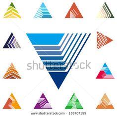 Convergence logos triangle | Design triangle, arrow logo vector template. Speed icon set. You can ...