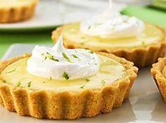 Receita de Tortinha de limão Tradicional - Tortinha originalmente é chamada de 'Key Lime Pie'. Pois foi no estado de Key West Florida nos E.U.A que nasceu a torta de limão. o sabor é...