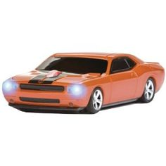 Wireless Mouse - Challenger Hemi Orange with Black Stripes Challenger Srt8, Cute Mouse, Black Stripes, Orange, Car, Automobile, Vehicles, Cars