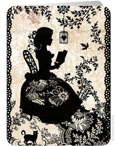Miss Shadow - Santoro's Eclectic Cards.