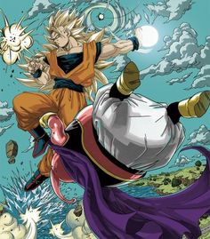 Ssj3 Goku vs majin Buu epic: