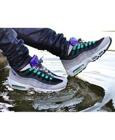 0bb633092034b Cheap Air Max 95 White Bright Purple Green Shoes Continue The Classic  Modeling Design