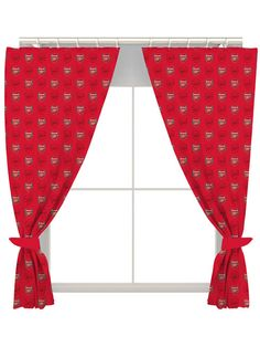 Arsenal FC Crest Curtains - perfect for any Arsenal fans bedroom or house