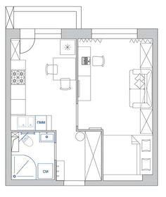 Идея для комнаты. кровать в нише (за японскими шторками), и шкаф вокруг гостевого дивана. напротив стол для ноута и тв (+ комод)