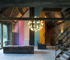 Image 1 of 40 from gallery of Mill Mavaleix / Piet Hein Eek. Photograph by Thomas Mayer Colour Architecture, Le Moulin, Architect Design, Interior Design Inspiration, Renting A House, Lighting Design, Interior And Exterior, House Design, Home
