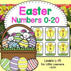 FREEBIE! These Easter Number Flashcards have an Easter/Spring theme and include numbers 0-20. They can be used for individual and small group instruction, or for assessment purposes.  Visit my site to download these cute number cards for free!