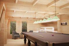 Garden Snooker Room / / 8 x 5 m – Summer House 24 – Garden Room Snooker Pool Table, Pool Table Room, Summer House Garden, Summer Houses, Indian Room, Garden Cabins, Floor Insulation, Roofing Options, Cabins For Sale