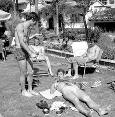 Messico, 1970. I tipi da spiaggia qui sotto sono Angelo Domenghini, Gigi Riva, Gianni Rivera e Pierluigi Cera.