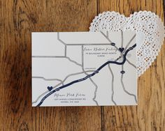 Where we are. Love the invitations from this wedding