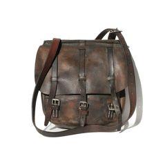 Vintage Brown Leather Strap bag, via Etsy.