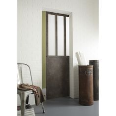 Ensemble porte coulissante atelier mdf rev tu galandage for Porte cellier