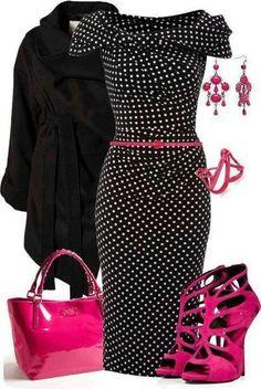 Hot Pink & Black!