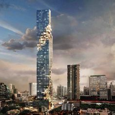 German architect Ole Scheeren of Office for Metropolitan Architecture has designed a skyscraper for Bangkok in Thailand.