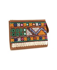 Multicolored Embroidered Clutch Bag Labour Day Weekend 9ae4048d86268