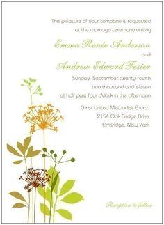 Whimsical Flower Wedding Invitation