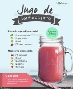 JUGO DE VERDURAS PARA REDUCIR LA PRESIÓN ARTERIAL / MEJORAR LA CIRCULACIÓN