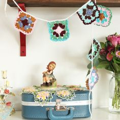 Granny Square Crochet Bunting - Cottage Industry Shop,,,,, oooh sooo cute!!!!