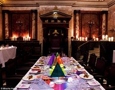 Impressive setting: Bompas and Parr's latest culinary extravaganza took place at the mystical Masonic Temple