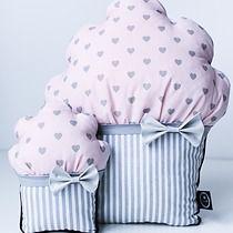 Poduszki mufinki, pokój dziecka - poduszki
