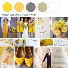 Shades of Yellow, Gray + White + brown