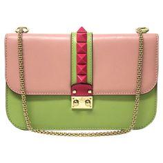 """Valentino """"Blocco spalla Bag"""" in tricolore"""