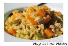 Hoy cocina Helen: ARROZ CON CALABAZA Y POLLO