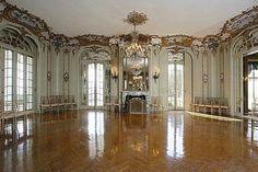 RI, Newport, Beechwood - Ballroom in the summer 'cottage' of home of Caroline Astor.