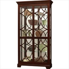 Howard Miller Morriston Curio Cabinet with Light in Chocolate Finish  - 680493 - Lowest price online on all Howard Miller Morriston Curio Cabinet with Light in Chocolate Finish  - 680493   CYMAX.COM