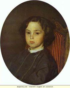 Ilya Repin. Portrait of a Boy.