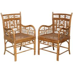 1stdibs | Superb Set of Vintage Bamboo Chairs