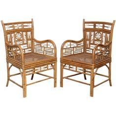 1stdibs.com | Superb Set of Vintage Bamboo Armchairs