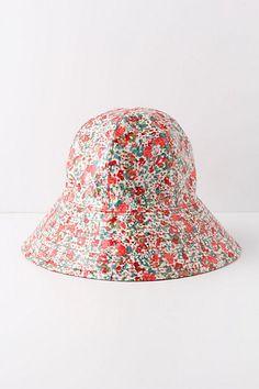 Fairweather Rain Hat, Flora, I'd wear it. #anthropologie