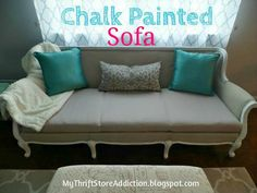 My Thrift Store Addiction : Painted Sofa Reveal!